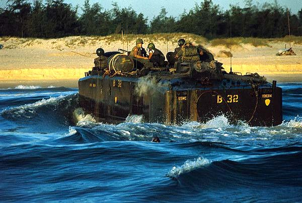 Battalion Seas Arriving in South Vietnam